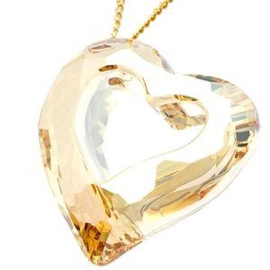 Swarovski Elements Loveheart Golden Shadow Pendant